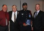 L-R Russell Moore, Paul Bailey, Ottawa Police Cst Umer Khan, OPA President, Matt Skof