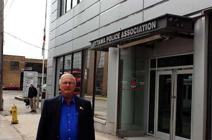 PPAO Director Dale Allen outside of the Ottawa Police Association building