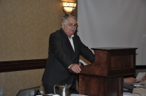President, Paul Bailey addressing the attendees.