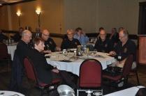 Hamilton Police Retirees Association contingent, from near left, Member Linda Foster-Rombough, Bob Slack, Director, Craig Ellis, Treasurer, Pieter Ciere, President, Steve Binch, Director and Bill Cook, Member.