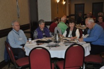 Joan Morrison with the Peel retirees contingent.