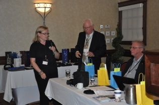 Dianne Stevenson host PPAN and Colin Vrooman, PPAO starting the door prize draws.