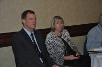 OMERS presenters, Chris Vanden Haak, Director of Pensions and Communication, on the left and Deb Preston, CEO OMERS
