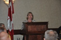 Deb Preston CEO OMERS presenting to the attendees.