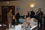 Dianne Stevenson, PPAN and Colin Vrooman, PPAO presenting door prizes.