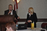 PPAO President, Paul Bailey thanking Ruth Wilcock for her informative presentation to the attendees.