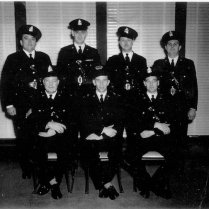 Crowland Police Force Back Row L-R Steve Berlik, Bud Walsh, John Paul Tessier, Bob Fowler Frt Row L-R Sgt. Del McIntee, Chief Bill Wright, Sgt. Walt Gula
